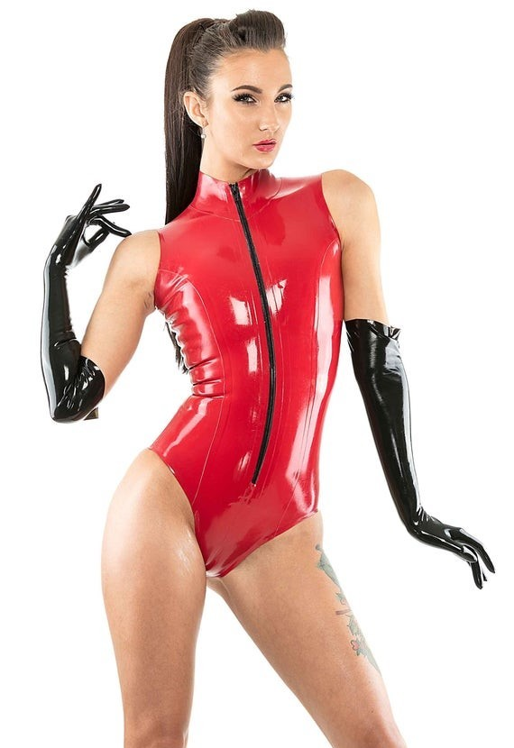 Bold Red Bodysuit