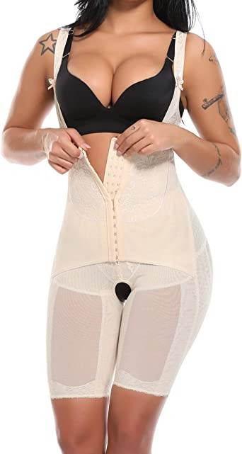 Oncore Open-Bust Mid-Thigh Bodysuit