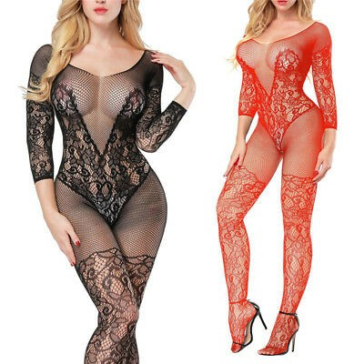 Two-Tone Lace Caged Ring Babydoll Set